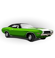 american muscle car green vector image