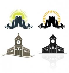 castle hall vector image