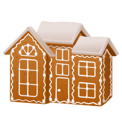 christmas gingerbread house with sugar icing vector image vector image
