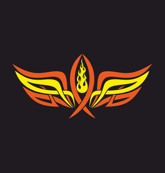 Fish jesus and the holy spirit wings vector