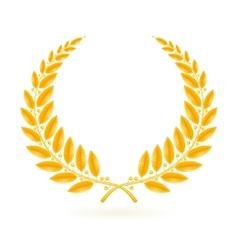 Gold Laurel Wreath vector image
