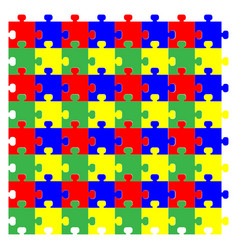 Red green yellow blue puzzles vector