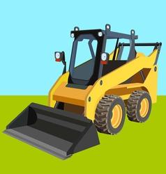 Skid loader industry background vector