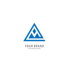 triangle letter a logo vector image vector image
