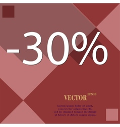 30 percent discount icon symbol Flat modern web vector image