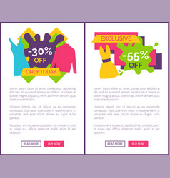 55 off exclusive discount logotype web posters vector
