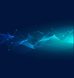 abstract blue polygons background from lines dot vector image