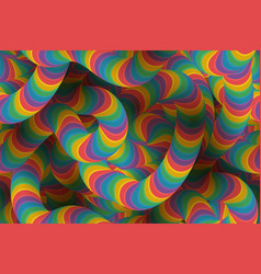 abstract psychedelic pattern vector image