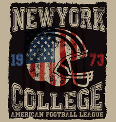 american football vintage print for boy vector image