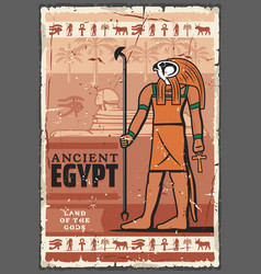 Ancient egypt horus god hieroglyphics religion vector