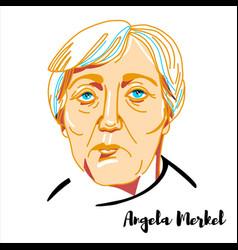 Angela merkel portrait vector