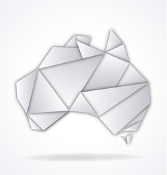 Australia map folded paper origami vector