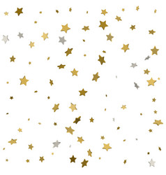 background of shiny gold stars vector image