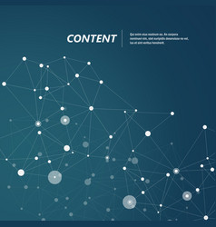 background with connection polygonal shapes vector image