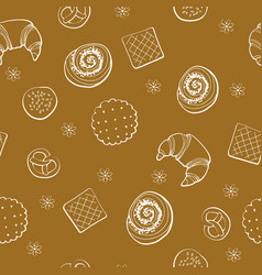 Bakery produkt seamless pattern vector