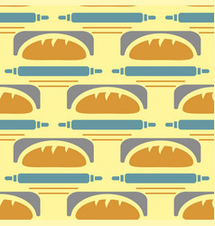 Bakery seamless pattern wheat vector