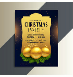 beautiful luxury party flyer for christmas vector image