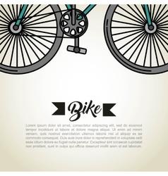 Bicycle vehicle retro icon vector
