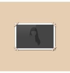 Blank retro photo vector