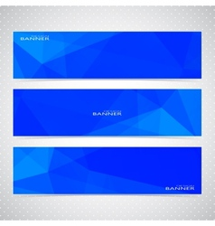 Blue Horizontal Set Of Banners Mosaic Backgrounds vector
