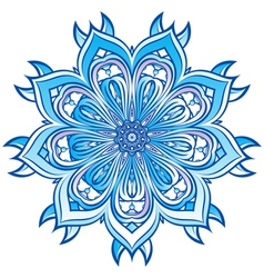 Blue Snowflake design vector image