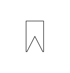 bookmark simple linear icon vector image