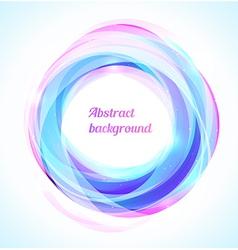 Bright blue swirl vector image