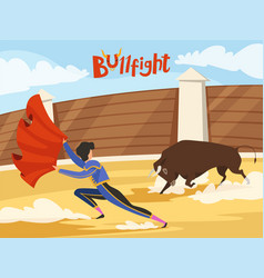 Bullfighting background spain traditional vector