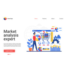 business analysis expert vector image