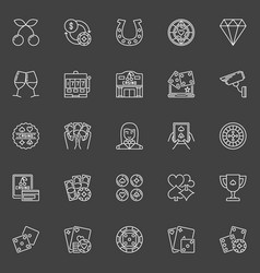 Casino icons collection vector