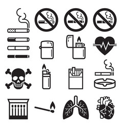 Cigarette icons vector