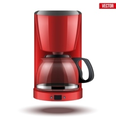Coffee maker with glass pot vector