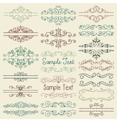 Colorful hand drawn dividers frames vector
