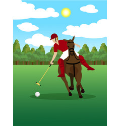 Colorful polo sport template vector