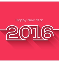 Creative happy new year 2016 design Flat design vector image