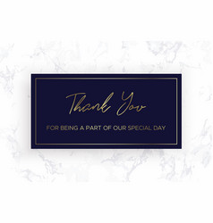 design thank you card template marble texture vector image