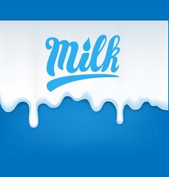 Drip milk vector