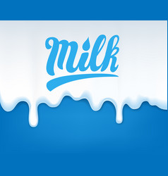 Drip of milk vector