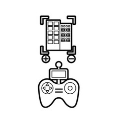 Drone remote control with builbing vector