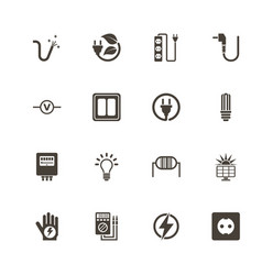 electricity - flat icons vector image