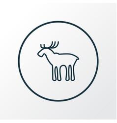 elk icon line symbol premium quality isolated vector image