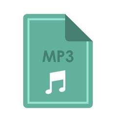 File MP3 icon flat style vector image
