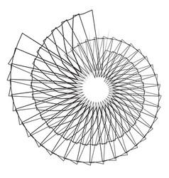 Geometric spiral shape motif with circular vector