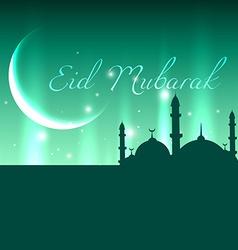 Glowing eid mubarak vector
