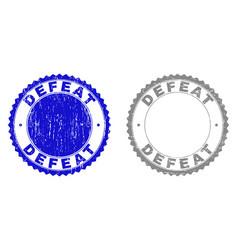 Grunge defeat textured watermarks vector