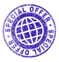 Grunge textured special offer stamp seal vector