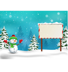 happy snowman christmas background vector image