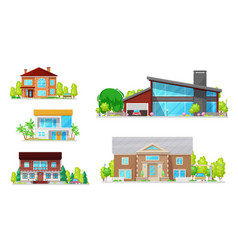 home buildings houses and residential apartments vector image
