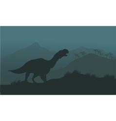 Iguanodon dinosaurs silhouette vector
