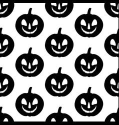 jack-o-lantern pumpkin pattern vector image